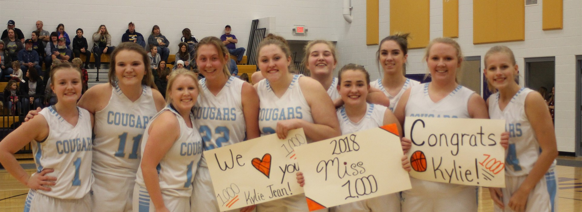 Congrats to Kylie Daugherty on scoring her 1,000th  point!
